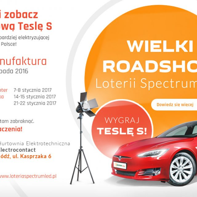 Wielki Roadshow loterii Spectrum LED